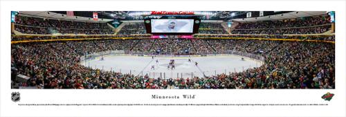 Minnesota Wild at Xcel Energy Center Panorama Poster