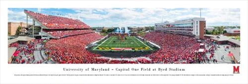 Maryland Terrapins at Byrd Stadium Panorama Poster