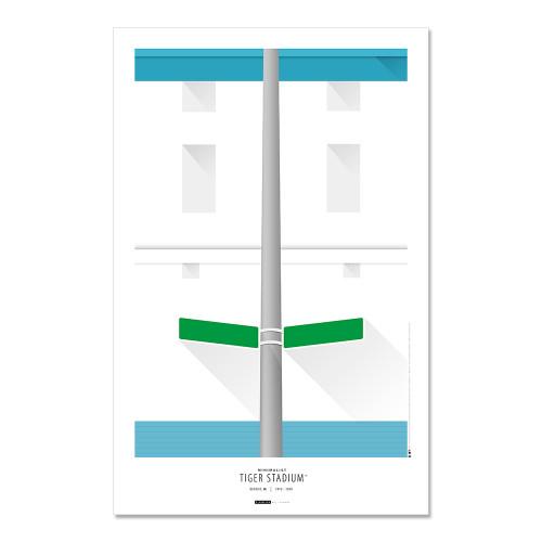 Detroit Tigers - Tiger Stadium Art Poster