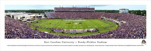 East Carolina Pirates at Dowdy Ficklen Stadium Panorama Poster