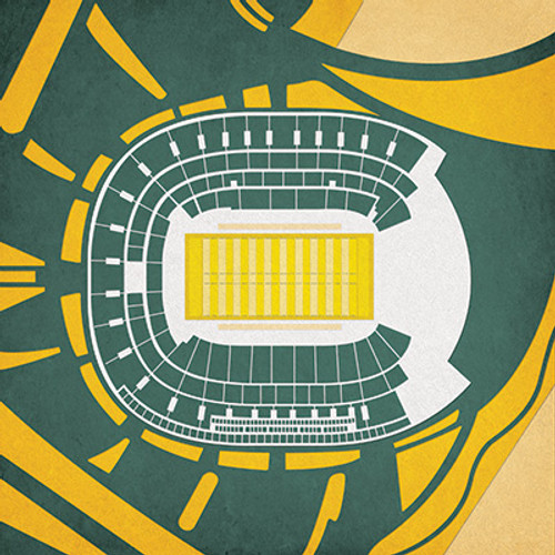 Baylor Bears - McLane Stadium City Print