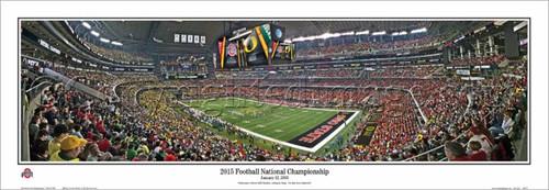"""""""2015 National Championship"""" Ohio State Buckeyes Panorama Poster"""