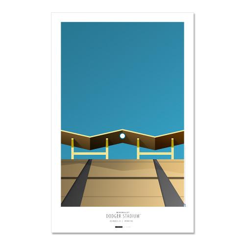 Los Angeles Dodgers - Dodger Stadium Art Poster