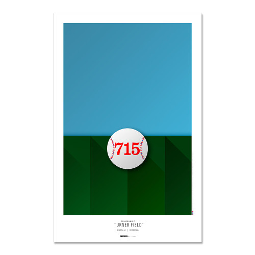 Atlanta Braves - Turner Field Art Poster