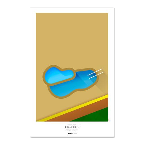 Arizona Diamondbacks - Chase Field Art Poster
