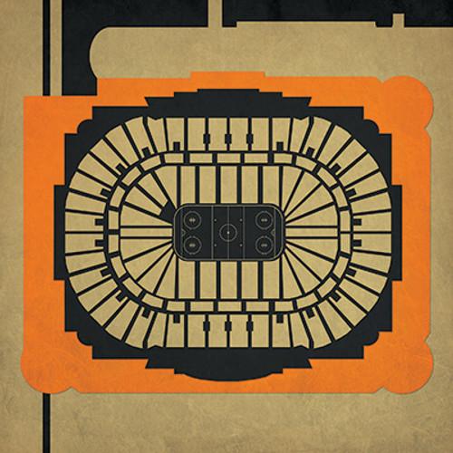 Anaheim Ducks - Honda Center City Print