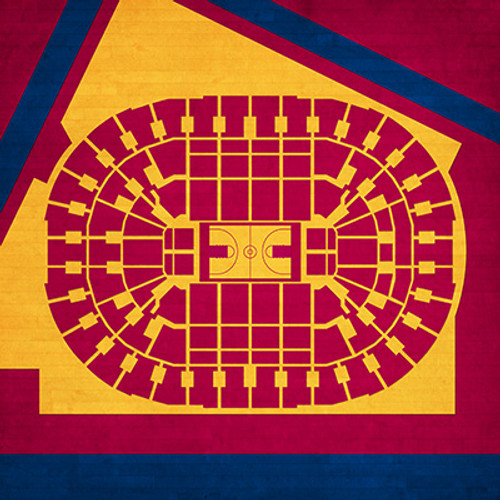 Cleveland Cavaliers - Quicken Loans Arena City Print