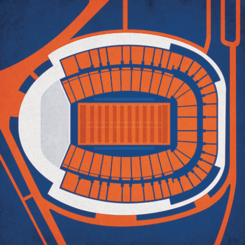 Virginia Cavaliers - Scott Stadium City Print