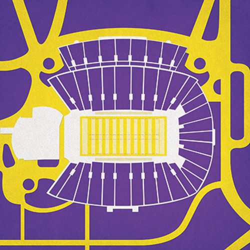 ECU Pirates - Dowdy Ficklen Stadium City Print
