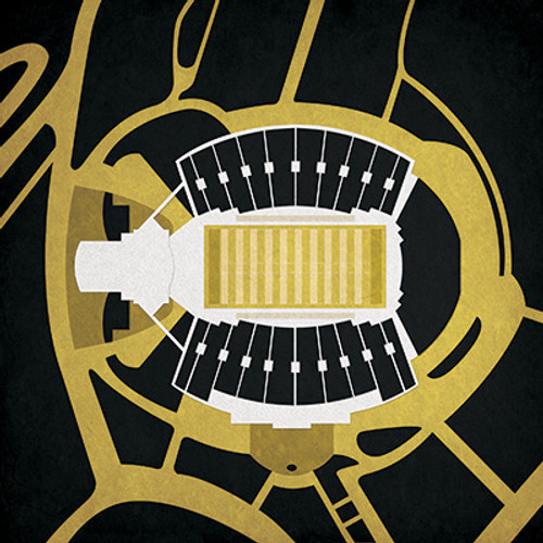Wake Forest Demon Deacons - BB&T Field City Print
