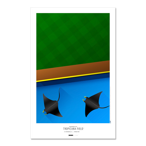 Tampa Bay Rays - Tropicana Field Art Poster