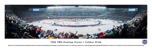 """2014 NHL Winter Classic"" Soldier Field Panorama Poster"