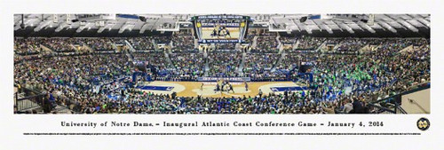 """""""Inaugural ACC Game"""" Notre Dame at Purcell Pavilion Panorama"""