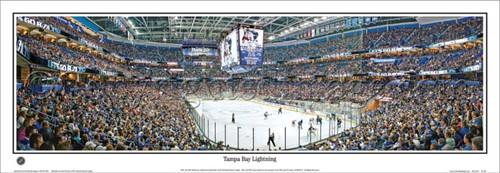 """""""Tampa Bay Lightning"""" Tampa Bay Times Forum Panoramic Poster"""