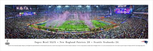 """Super Bowl XLIX"" New England Patriots Panorama Poster"
