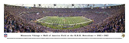"""Final Game at the Metrodome"" Minnesota Vikings Panorama Poster"