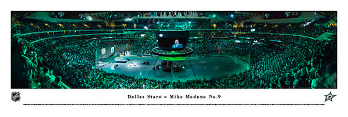 """Mike Modano No.9"" Dallas Stars Panorama Poster"