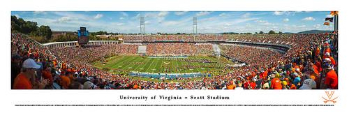 Virginia Cavaliers at Scott Stadium Panorama Poster