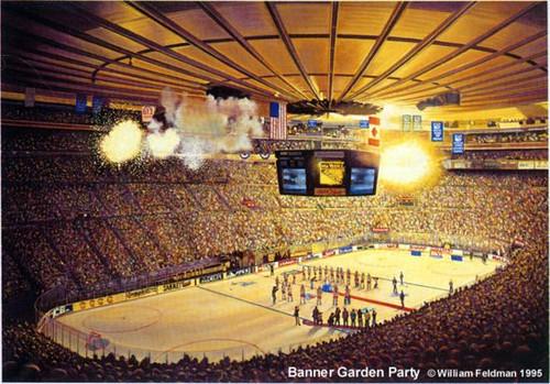 """Boston Garden Party"" Boston Bruins Print"
