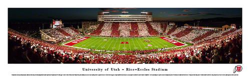 Utah Utes at Rice Eccles Stadium Panorama Poster