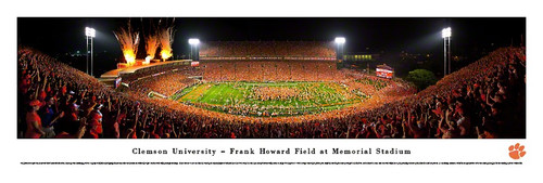 Clemson Tigers at Memorial Stadium Panorama Poster
