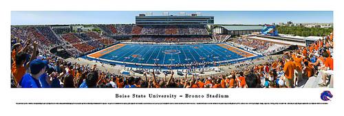 Boise State Broncos at Bronco Stadium Panorama Poster