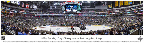 """""""2014 Stanley Cup Champions"""" Los Angeles Kings Panorama Poster"""