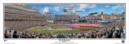 """""""2014 MLB All-Star Game"""" Target Field Panoramic Framed Poster"""