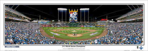 """2015 World Series Champions"" Kansas City Royals Panorama Framed Poster"