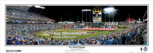 """""""2015 World Series"""" Kauffman Stadium Panoramic Framed Poster"""