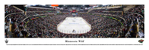 Minnesota Wild Stanley Cup Playoffs Panoramic Poster