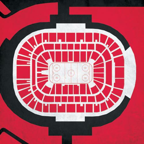 Carolina Hurricanes - PNC Arena City Print