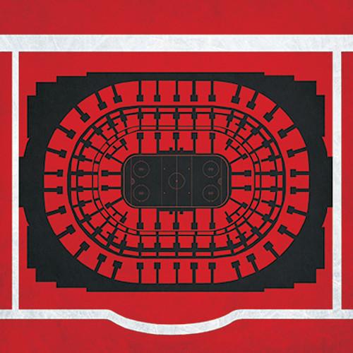Chicago Blackhawks - United Center City Print