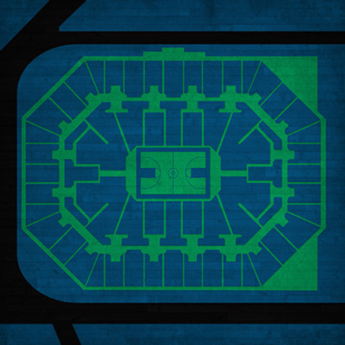 Minnesota Timberwolves - Target Center City Print