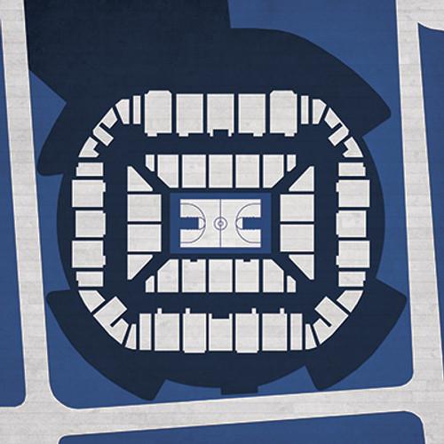 Connecticut Huskies - Harry Gampel Pavilion City Print