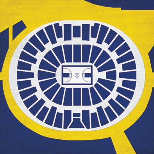 Michigan Wolverines - Crisler Arena City Print