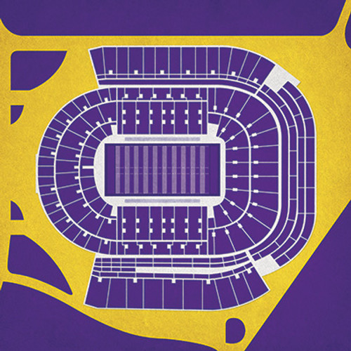 LSU Tigers - Tiger Stadium City Print