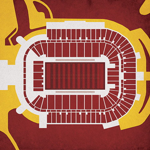 Arizona State Sun Devils - Sun Devil Stadium City Print
