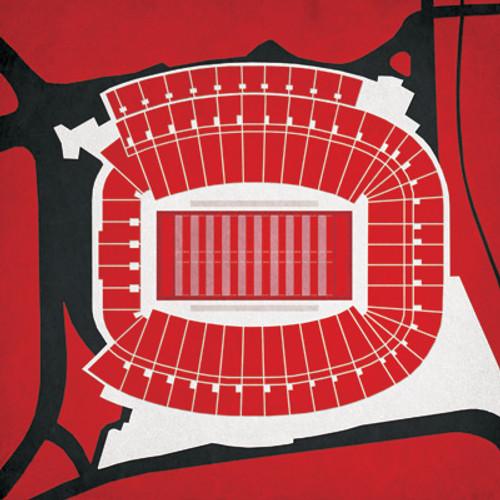 Georgia Bulldogs - Sanford Stadium City Print