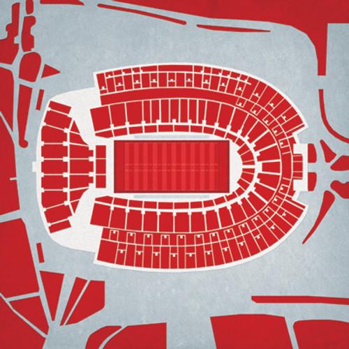 Ohio State Buckeyes - Ohio Stadium City Print