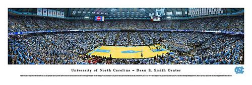 North Carolina Tar Heels Basketball at Dean Smith Center Poster