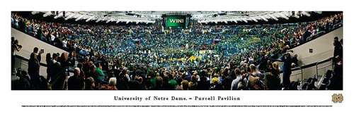 Notre Dame Basketball at Purcell Pavilion Panorama Poster