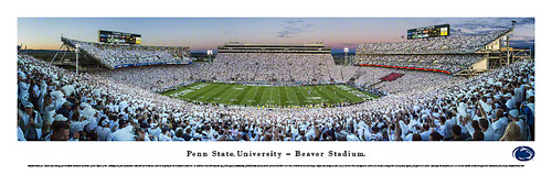 """White Out"" Penn State Nittany Lions at Beaver Stadium Panorama"