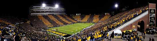 """Black & Gold Game"" Iowa Hawkeyes Panoramic Poster"