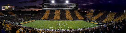 """Black & Gold Game"" Iowa Hawkeyes Panoramic Poster 1"