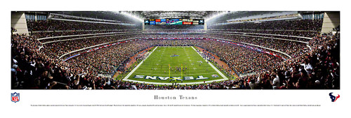 Houston Texans at Reliant Stadium Panorama Poster