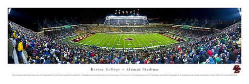 Boston College Eagles at Alumni Stadium Panorama Poster