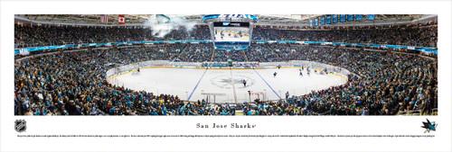 San Jose Sharks at the SAP Center Panorama Poster