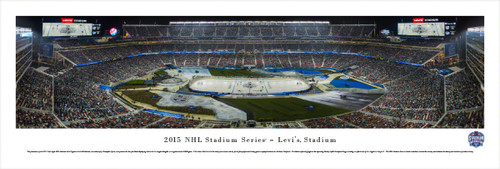 """2015 NHL Winter Classic"" Levis Stadium Panorama Poster"