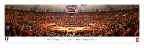 Illinois Fighting Illini at State Farm Center Panorama Poster